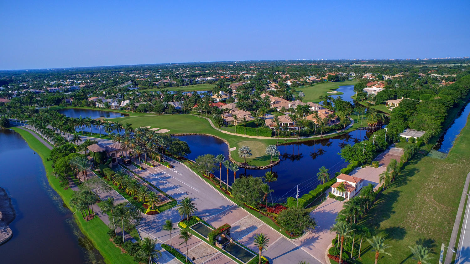 Aerial of St. Andrews Country Club in Boca Raton