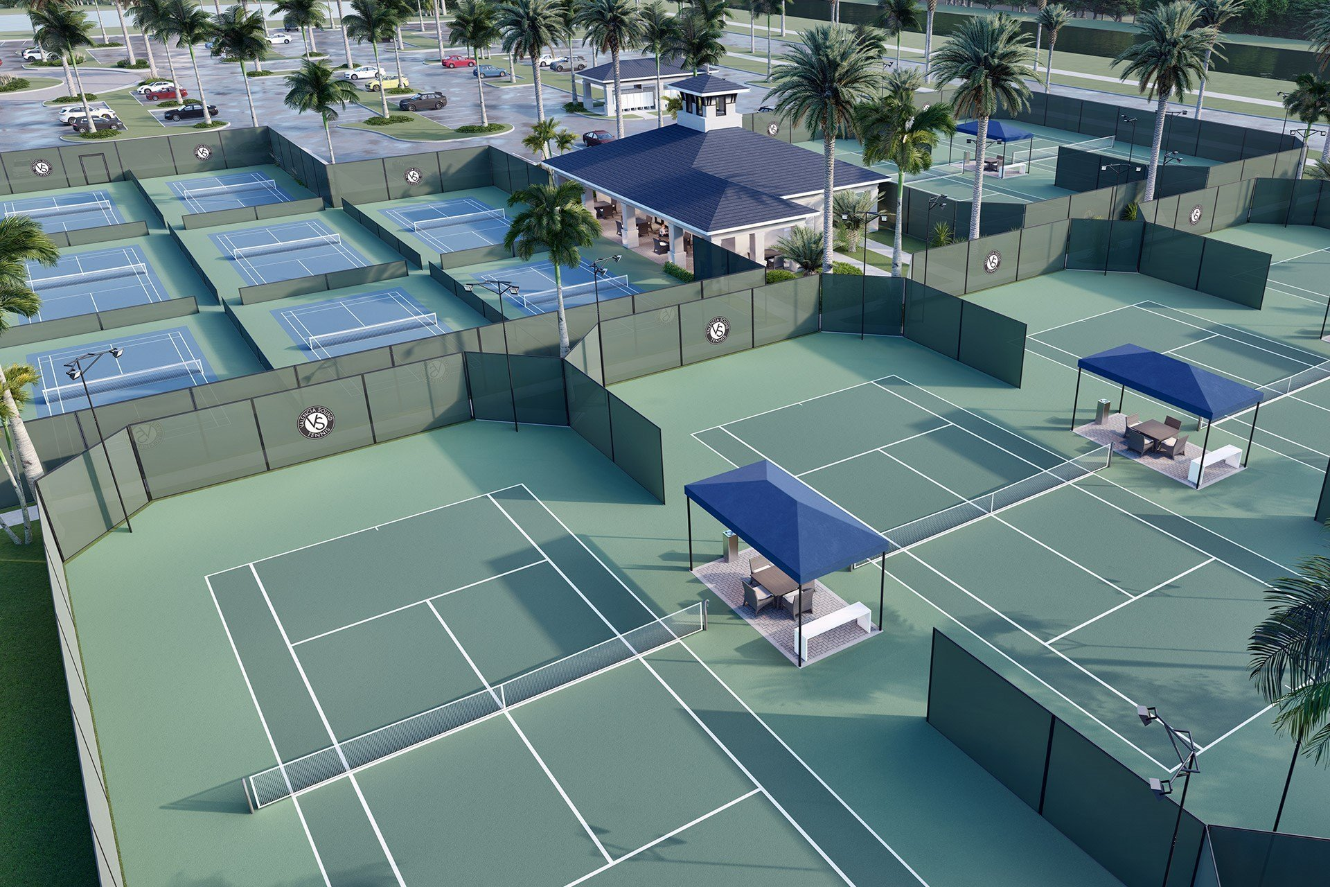 Valencia Sound Pickle Ball and Tennis Courts
