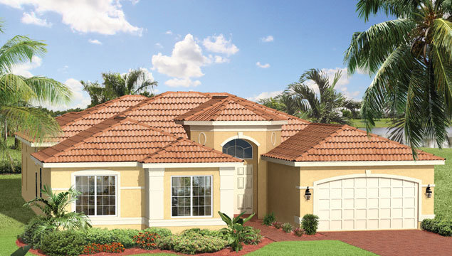 Caribbean Floor Plan in Valencia Pointe