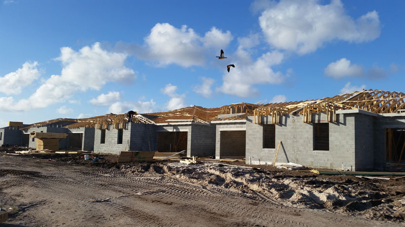 New Patio Villas under construction at Villaggio Reserve in Boynton Beach FL