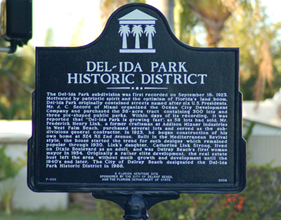 Del Ida Park Historic District in Delray Beach FL