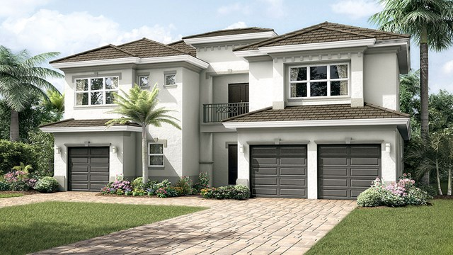 The Malibu Floor Plan in Berkeley Boca