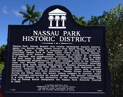 Nassau Park Historic District in Delray Beach